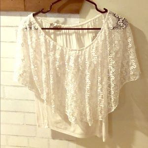 Flowing lace top